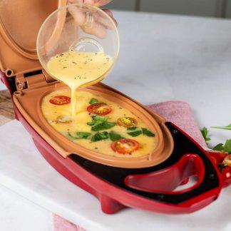 5-minutni kuhar od crvenog bakra - neljepljiva omleta tava