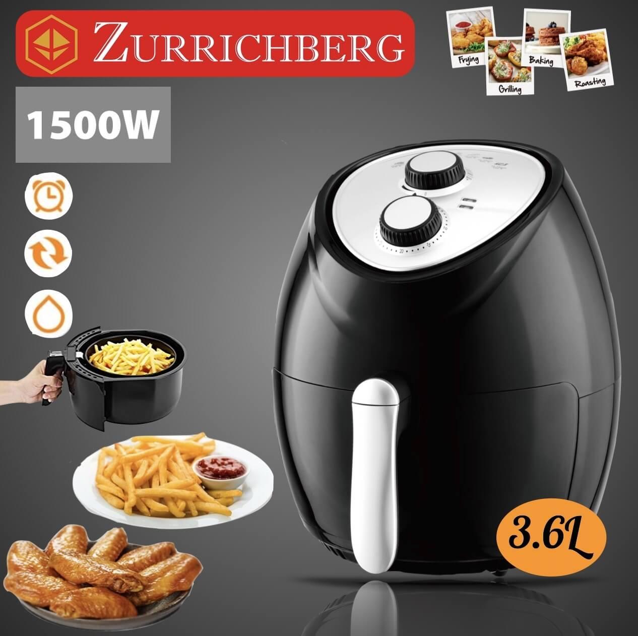 Zurrichberg Profesionalna friteza za pečenje bez ulja 3.6L 1500W