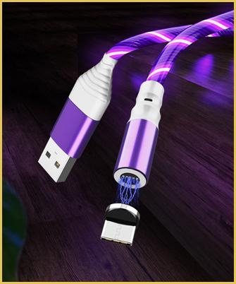 Svijetleći magnetni punjač za sve Samsung modele i Iphone